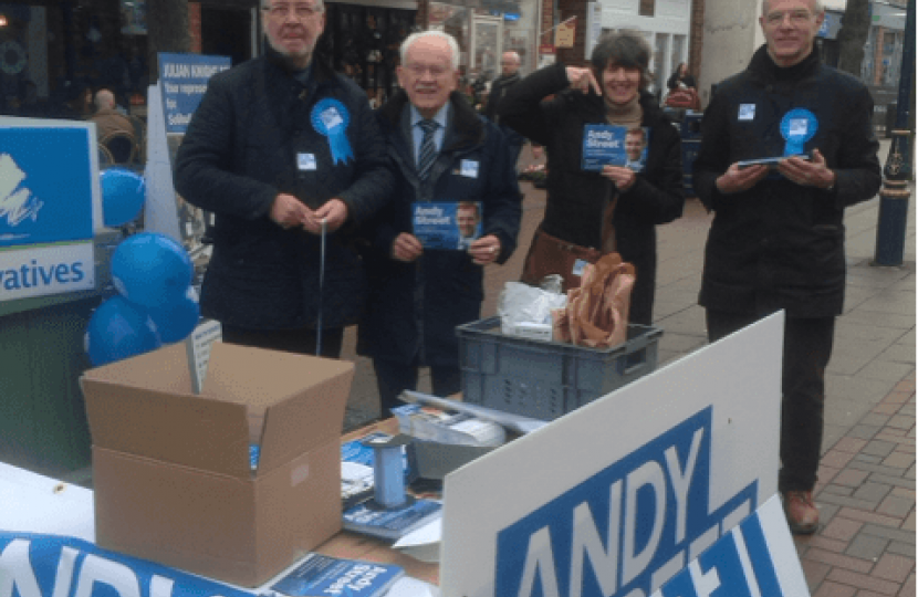 Campaigning on Solihull High Street