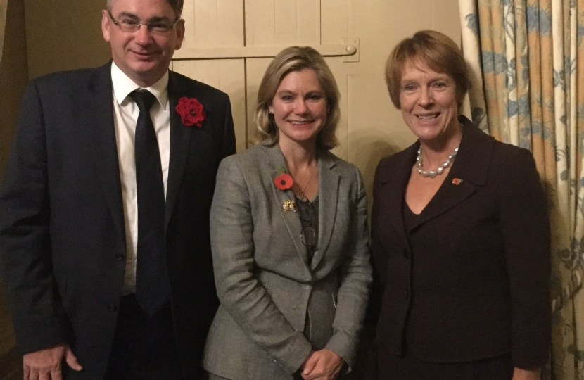 Julian Knight MP with Justine Greening, Education Secretaryand Caroline Spelman MP